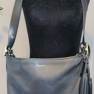 Coach Black Studded bucket bag.